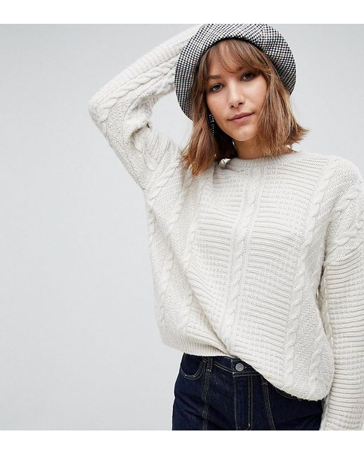 Reclaimed (vintage) Multicolor Inspired Sweater In Cable Knit