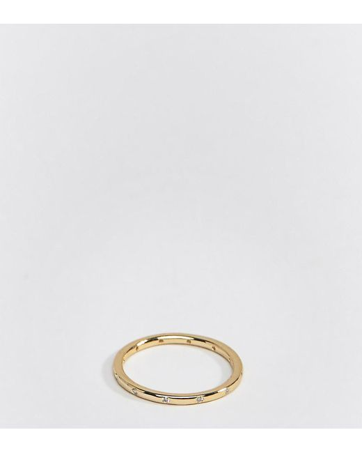 Shashi - Metallic 18k Gold Plated Diamante Band Ring - Lyst