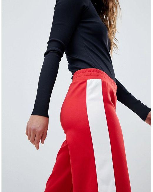 Mink Pink Varsity Wide Leg Trackpant - Red Minkpink pB9UknMw