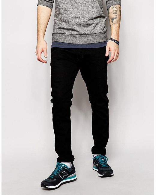DIESEL | Jeans Tepphar 886z Skinny Fit Black for Men | Lyst