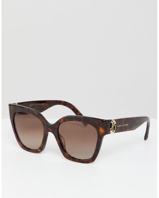 8a35ca133b Marc Jacobs Oversized Cat Eye Sunglasses In Tort in Brown - Save 9 ...