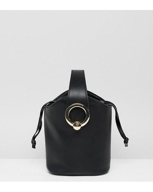 60172a054 ALDO Bankston Black Bucket Bag With Gold Metal Hardware in Black - Lyst