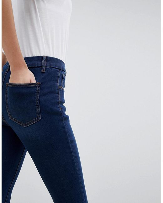 DESIGN Sculpt Me High Waisted Premium Jeans In Rushmore Blue - Mid wash blue Asos Good Selling Cheap Price Buy Online Authentic LVeHu0yJ