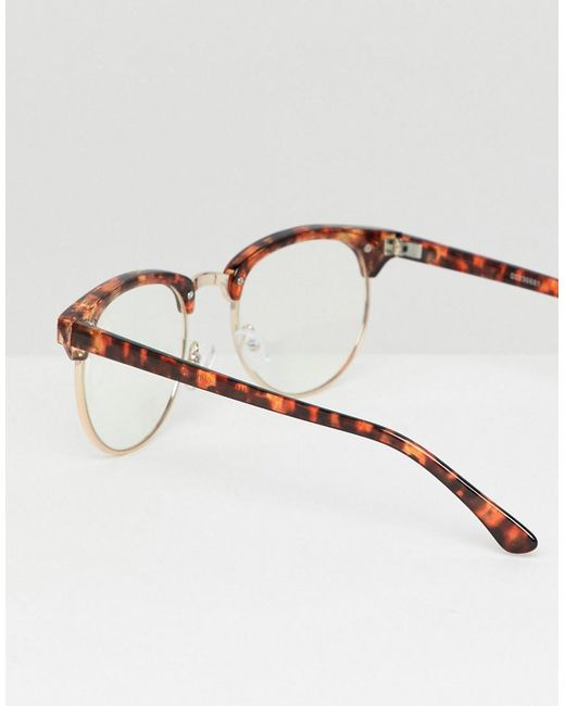 2481ded847 ... ASOS DESIGN - 2 Pack Retro Sunglasses In Tort With Clear Lens   Brown  Grad Lens