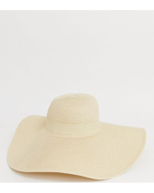 South Beach - Natural Straw Extra Wide Brim Floppy Wired Hat - Lyst ... c9e08af60c7
