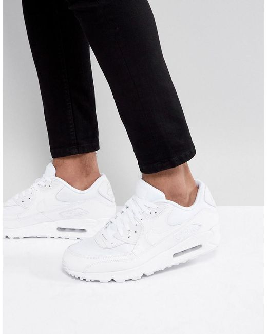 brand new b91dd 6d817 Nike - Air Max 90 Essential Sneakers In White 537384-111 for Men - Lyst ...