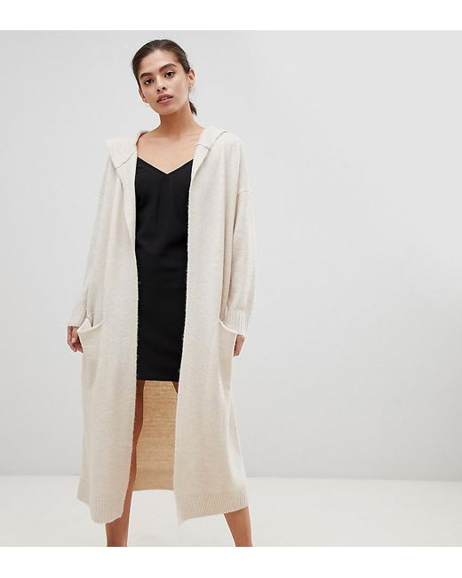 238e7fbaee4 Micha Lounge - Natural Luxe Oversized Longline Cardigan With Hood - Lyst ...