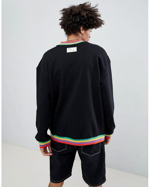 ... PUMA - Organic Cotton Sweat With Small Logo In Black Exclusive To Asos  for Men ...
