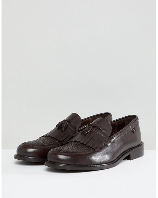 Farah Chapman Leather Tassel Loafers