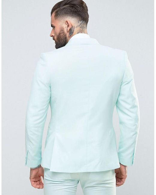 Rudie Super Skinny Pale Green Suit Jacket in Green for Men | Lyst