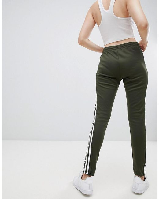41aff8777b Pantalon de jogging trois bandes adidas Originals en coloris Vert - Lyst