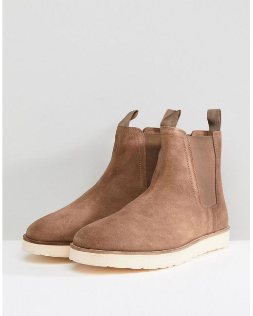 Stradivarius Suede Boot With Contrast Chunky Sole In rMPgna3s0
