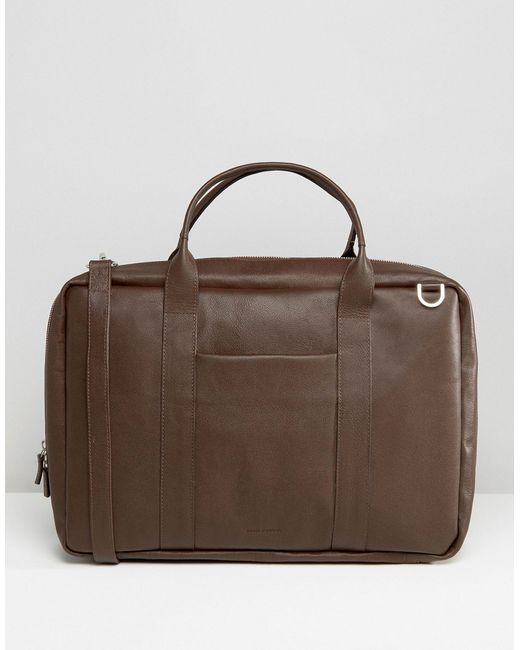 Royal republiq Leather Ground Day Bag in Brown for Men