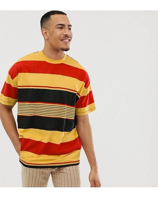 d9febc93f ASOS Tall Oversized Organic Cotton T-shirt With Thick Retro Stripe ...