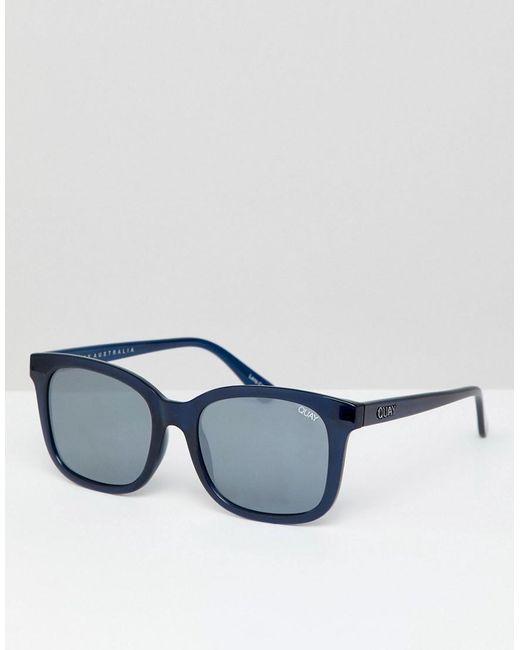 Quay - Blue Kingsley Square Frame Sunglasses - Lyst