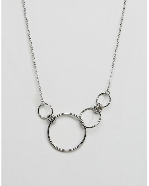 Cheap Monday - Metallic Circle Detail Necklace - Lyst