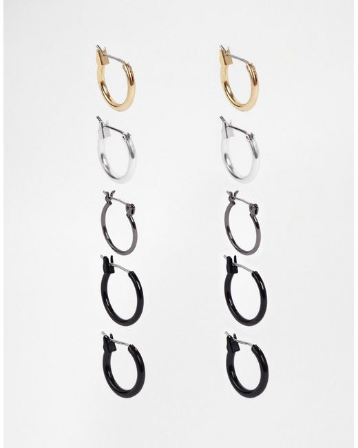 ASOS | Multicolor Hoop Earring Pack | Lyst