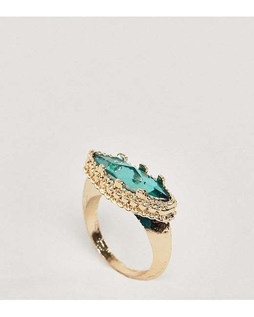 ASOS - Metallic Asos Design Curve Opulent Jewel Ring - Lyst