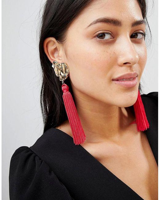 Ivyrevel - Red Heart Tassel Earrings - Lyst