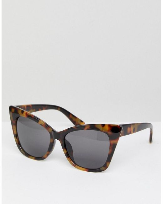 ASOS - Brown Cat Eye Sunglasses - Lyst