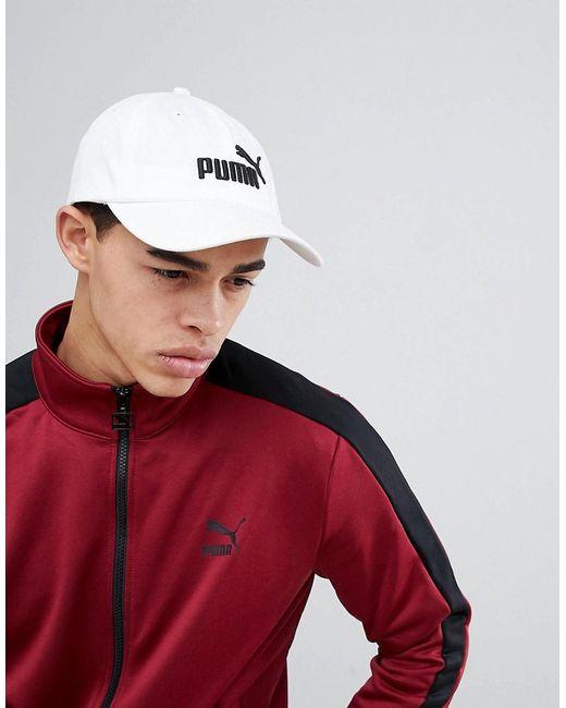PUMA - Essentials Cap In White 05291910 for Men - Lyst