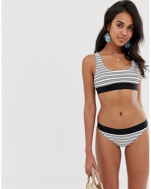 76efc9a8ab2b6 French Connection - Multicolor Sport Stripe Bikini Bottom - Lyst ...