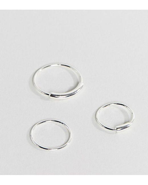 Pilgrim - Metallic Silver Plated 3 Pack Stacking Rings - Lyst