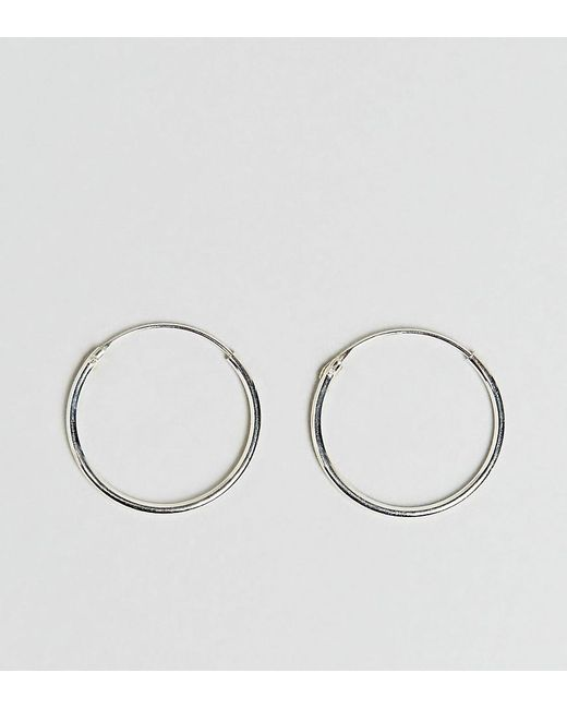 Kingsley Ryan - Metallic Sterling Silver 20mm Fine Hoop Earrings - Lyst
