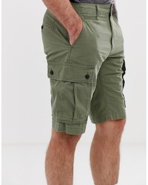c0414538 Tommy Hilfiger - Green Light Twill Cargo Short In Olive for Men - Lyst ...