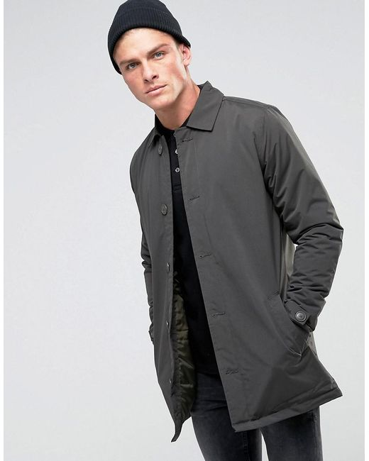 French Connection | Green Lined Trench Coat for Men | Lyst