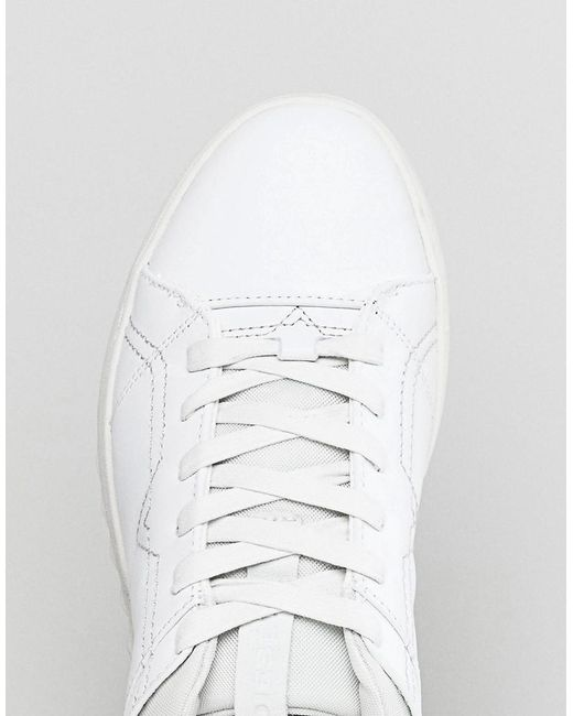 Stud Sole Leather Trainers White - White Diesel yHkTT