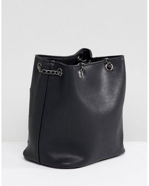Bucket Bag with Star Studs - Black Yoki Fashion 2dJzvApR