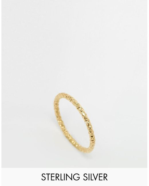 Dogeared | Metallic Gold Plated Midi Love Sparkle Ring | Lyst