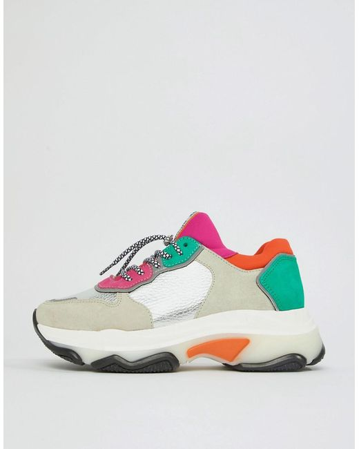Bronx Brights metallic suede chunky sneakers nMRKC8