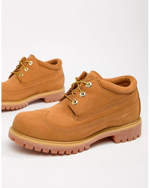 Timberland - Natural X Engineered Garments Oxford Brogues In Wheat for Men  - Lyst ...