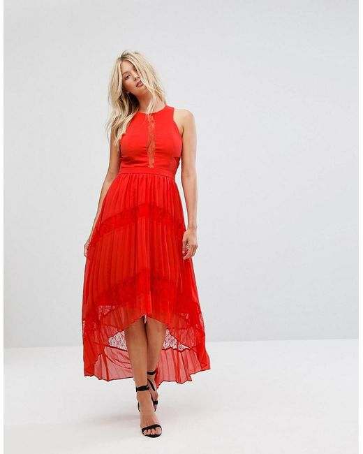 Adelyn Rae Irina Pleated Lace Insert Maxi Dress The Cheapest Cheap Online Clearance Best SE2kOW