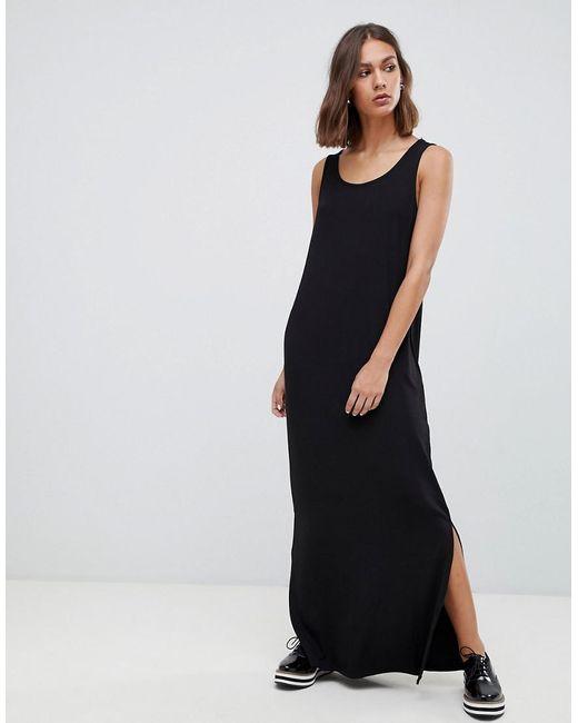 Lyst Minimum Maxi Dress With Side Splits In Black