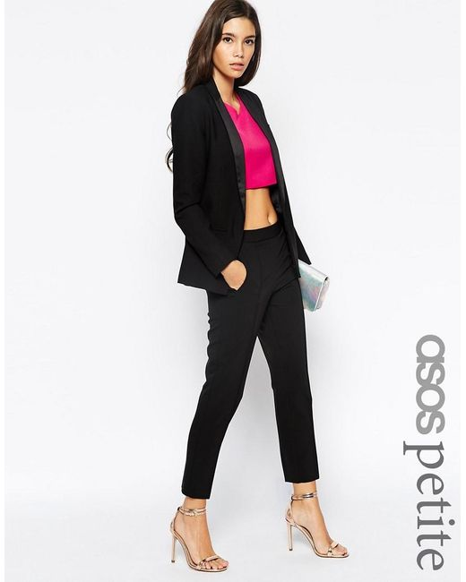 ASOS | Black Petite Trouser With High Waist | Lyst
