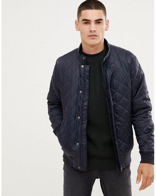 Barbour - Blue Edderton Quilted Jacket In Navy for Men - Lyst