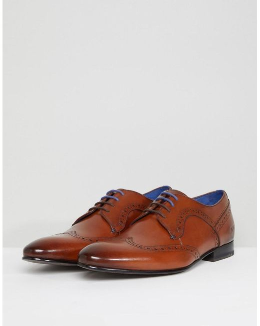 Free Shipping Clearance Store Ollivur Leather Brogue Shoes In Tan - Tan Ted Baker Comfortable Sale Online V1ttgp4cs