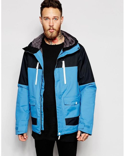 Clwr | Blue Waterproof Jacket With Colourblock for Men | Lyst