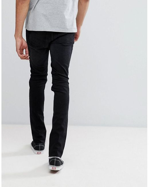 18d63690b85 ... Cheap Monday - Tall Tight Black Skinny Jeans With Knee Rip for Men -  Lyst