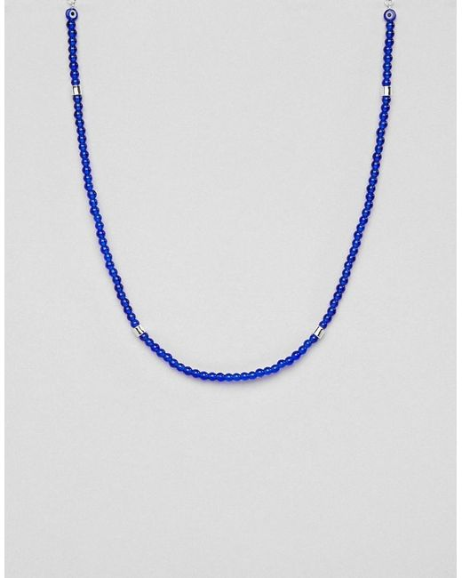 Icon Brand - Beaded Necklace In Blue for Men - Lyst