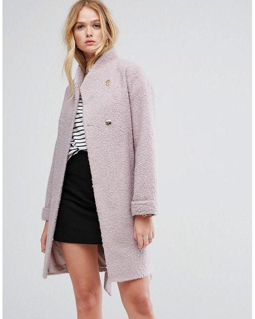 ASOS - Pink Textured Throw On Coat - Lyst