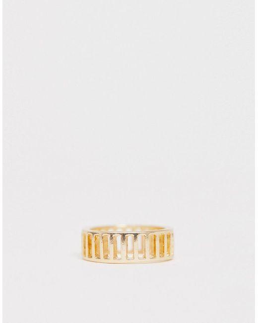 ASOS Metallic Ring In Cut Out Minimal Design In Gold Tone
