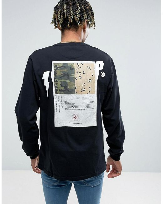10.deep | Black 10.deep Long Sleeve T-shirt With Back Patch for Men | Lyst