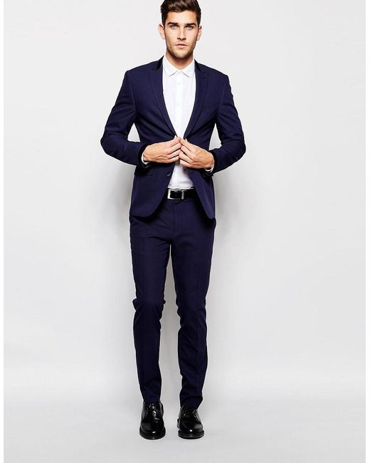 Asos Slim Suit Jacket With Shawl Collar in Black for Men | Lyst