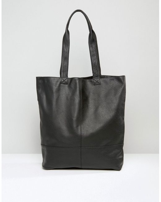 ASOS | Black Leather Tote | Lyst