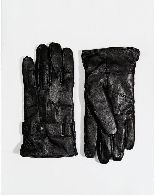 Minimum | Black Leather Gloves for Men | Lyst