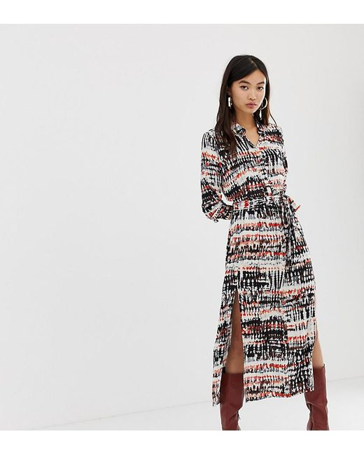 b06250e0d Stradivarius - Multicolor Maxi Shirt Dress In Tie Dye - Lyst ...